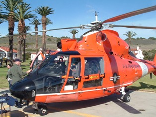 USCG Dolphin Helicopter at Point Vicente Lighthouse