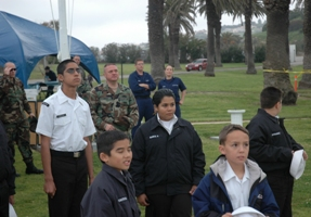 Naval Sea Cadets at Whale Day