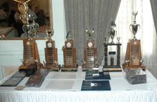 Display of trophies at Division Awards Brunch