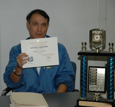 Wako Winters and his award and trophy